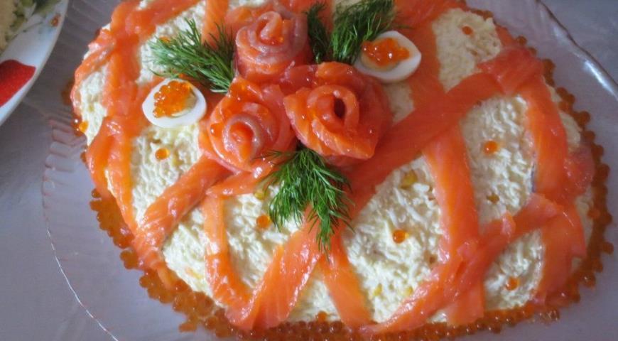 салат царский из семги рецепт с рисом