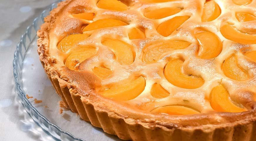 рецепт торт с персиками творог