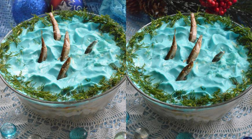 Рецепт Салат Рыбки в пруду