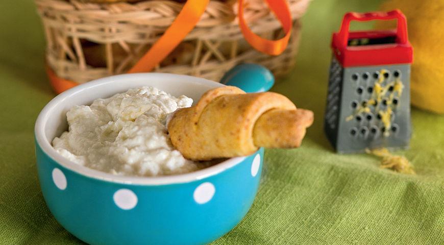 Рецепт Рогалики с лимонным творогом