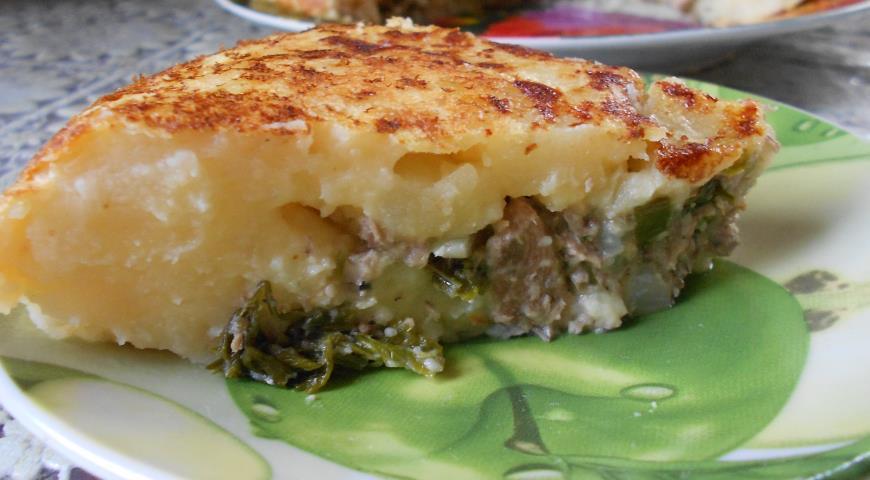 Рецепт Картофельно-рыбный пирог в мультиварке