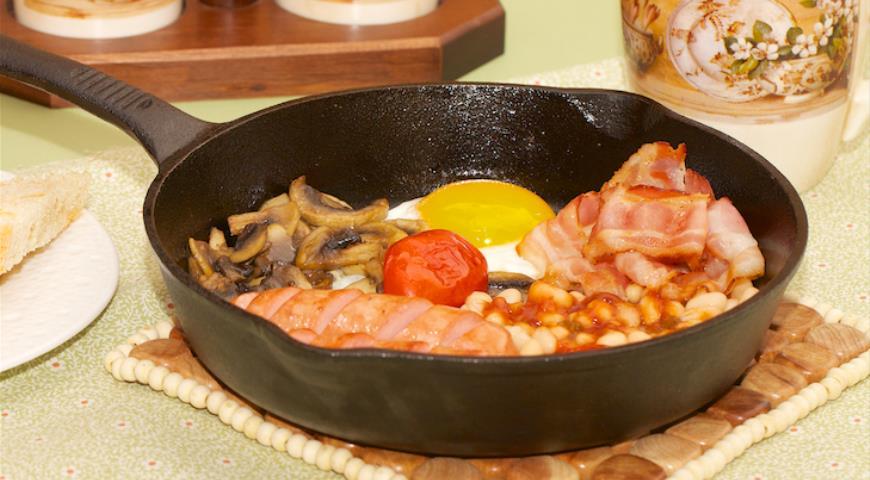 Рецепт Сытный воскресный завтрак в английском стиле