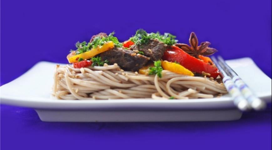 Рецепт Говядина с перцами