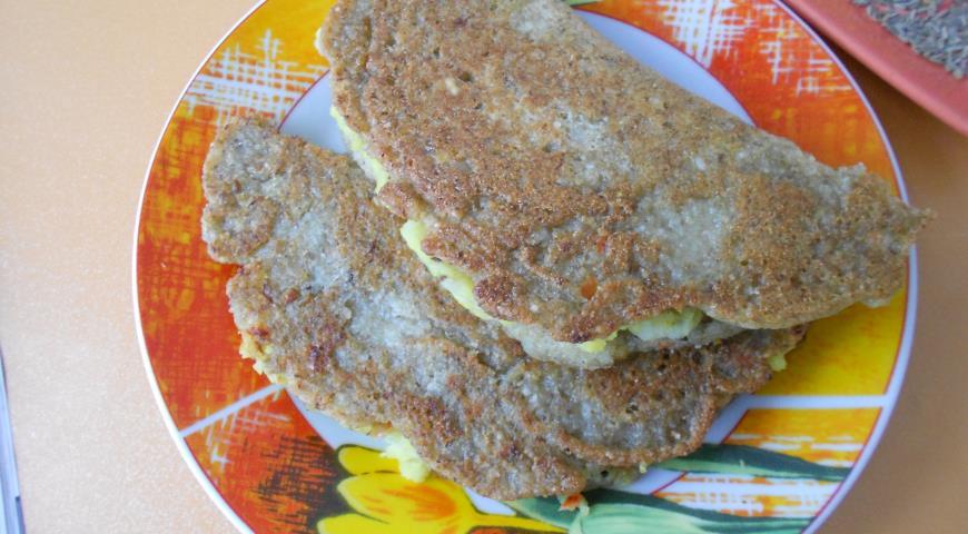 Рецепт Индийские блины с картофелем и чечевицей