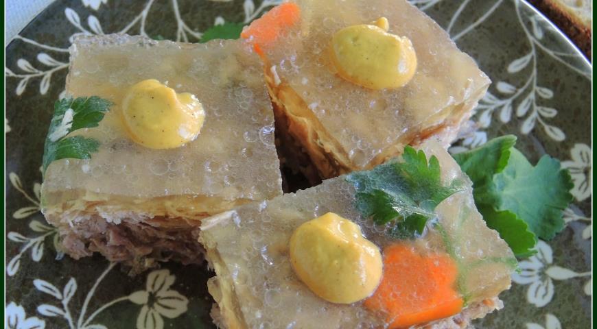 Холодец из индейки, пошаговый рецепт с фото