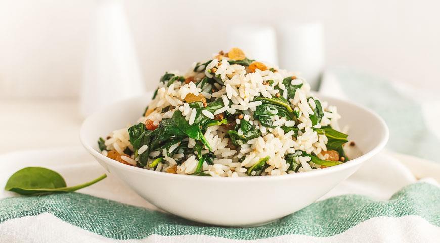 Рис со шпинатом рецепт