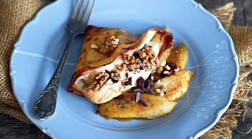 Рецепт Суфле в блинчиках с жареными бананами