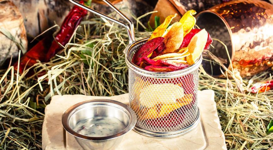 Рецепт Хрустящие овощные чипсы