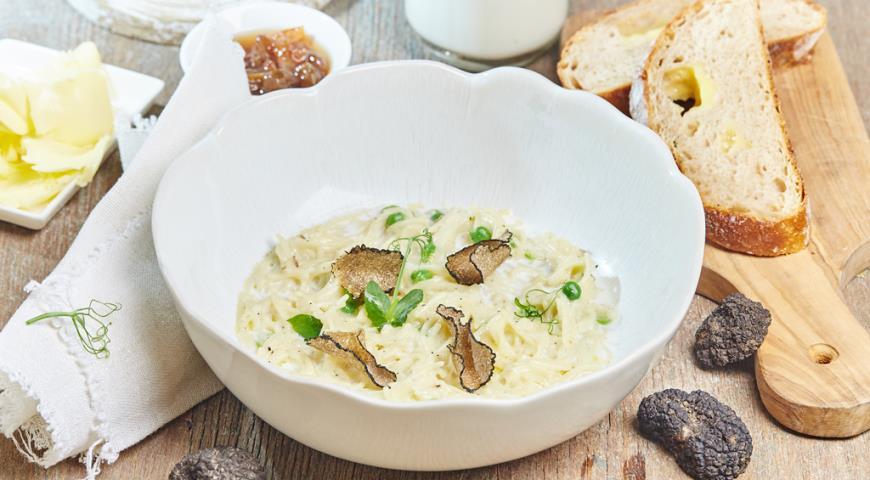 Рецепт Молочная лапша с трюфелем