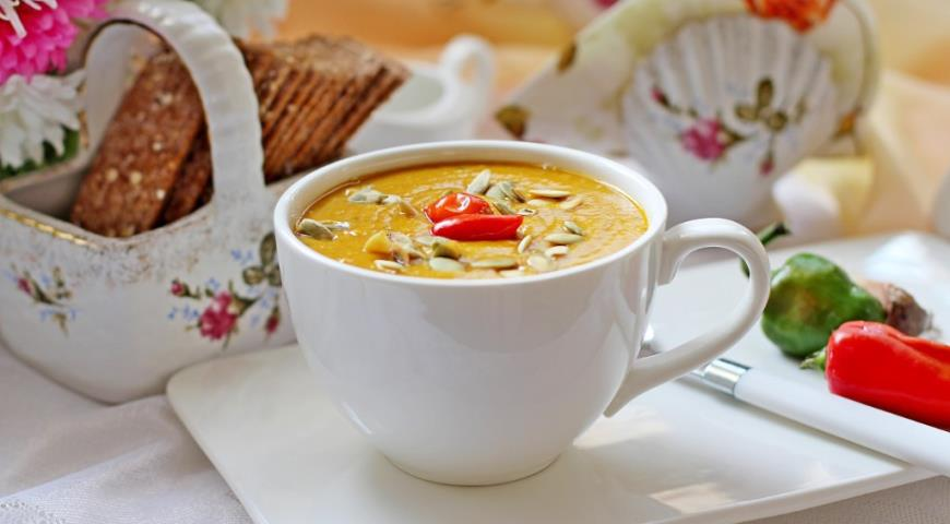 Рецепт Тыквенно-чечевичный суп-пюре