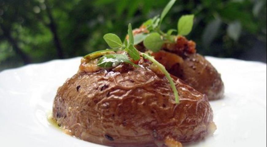 Рецепт Картофель под чесночным соусом