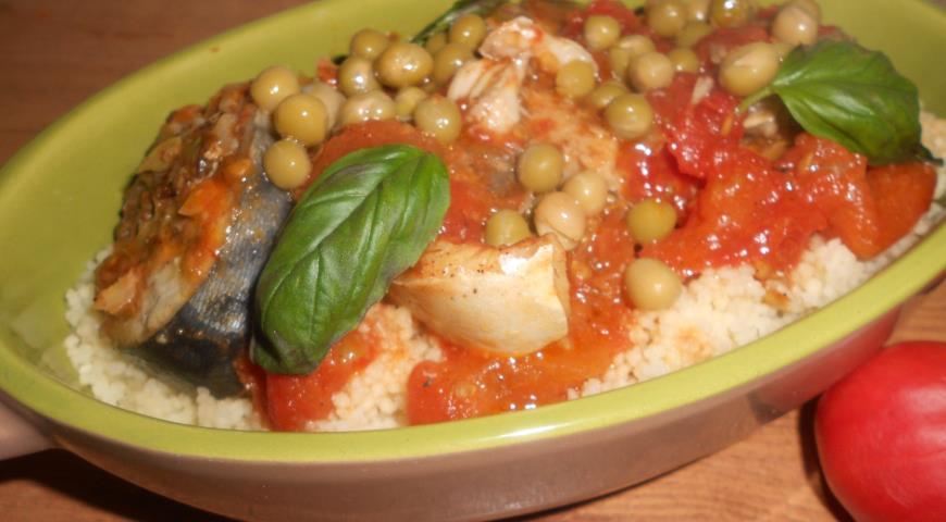 Рецепт Рыба по-мароккански с кускусом
