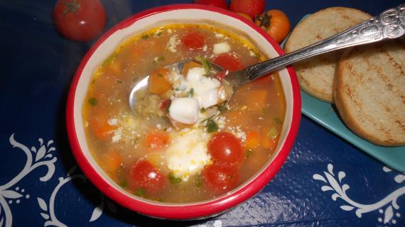 суп с шпинатом рецепт с фото