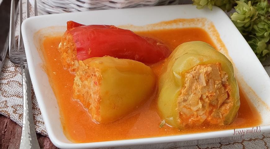 перец фаршированный мясом рецепт с фото пошагово