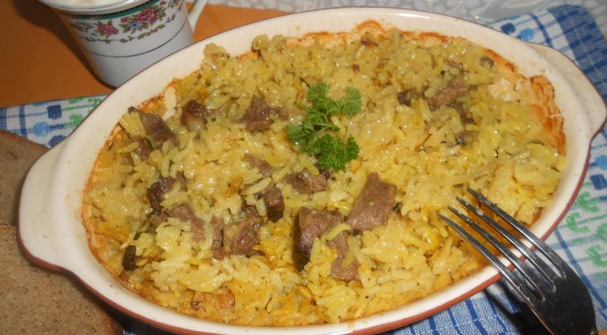Приготовить рис в духовке фото рецепт