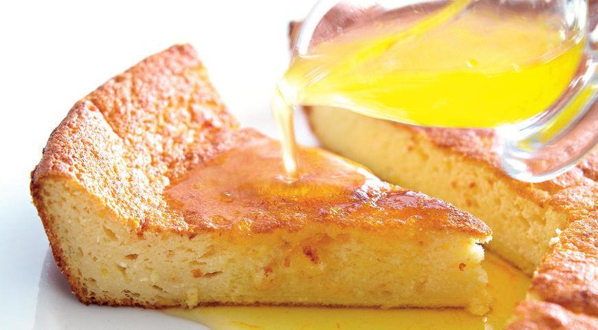 Рецепт Йогуртовый пирог с цитрусовым сиропом
