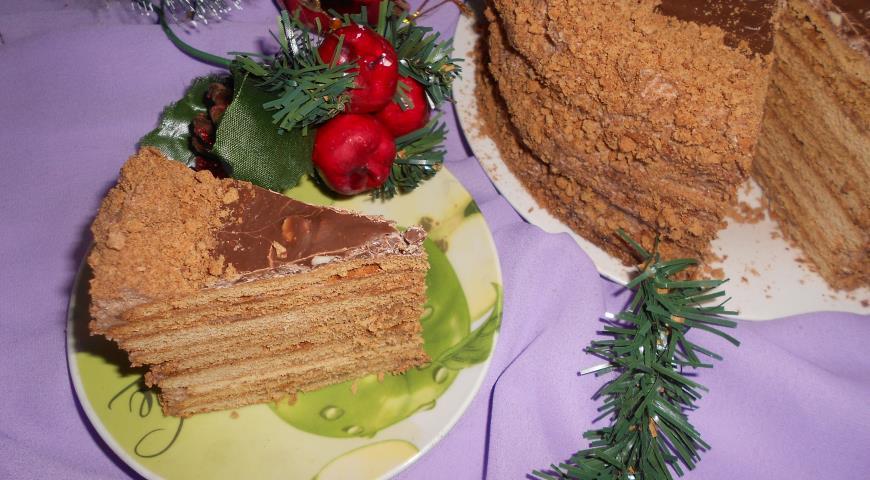 рецепт торт медовик шоколадный рецепт с фото