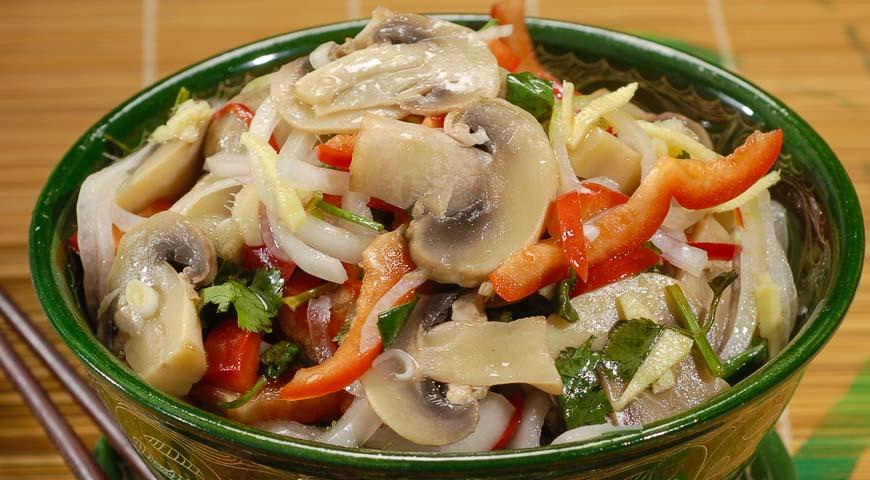 рецепт грибов по корейски