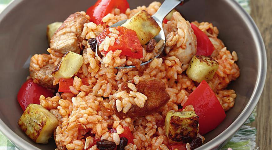 Рецепт Свинина с курицей и рисом в карибском стиле