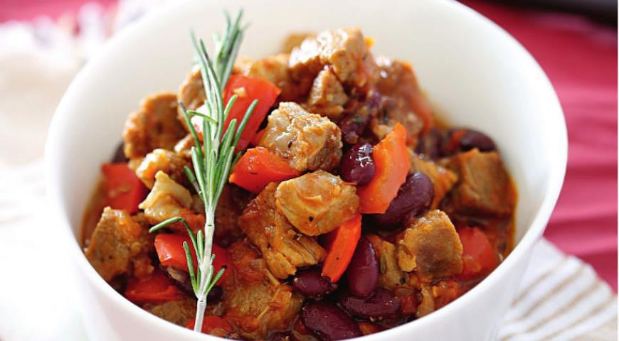 Рецепт Чили из красной фасоли со свининой