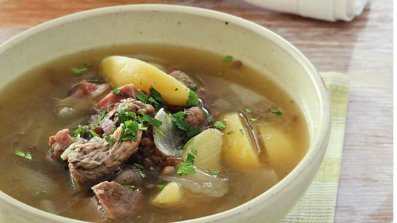 Суп из рульки с чечевицей, пошаговый рецепт с фото