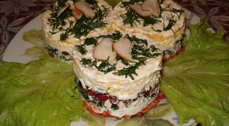 рецепт салат с фасолью и куриной грудкой