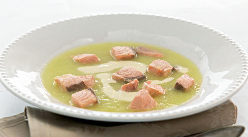 Рецепт Суп из семги с чесночным кремом