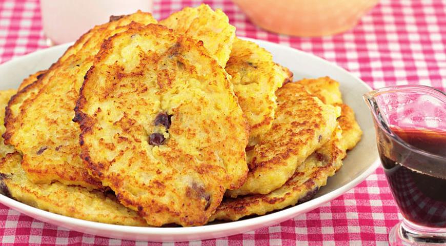 Рецепт Пшенные оладушки с яблоками