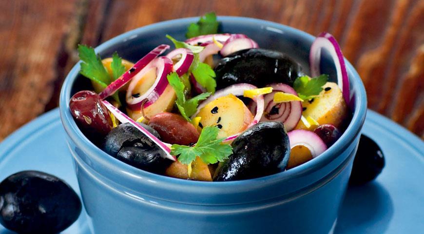 Марокканский картофельный салат с маслинами, пошаговый рецепт с фото
