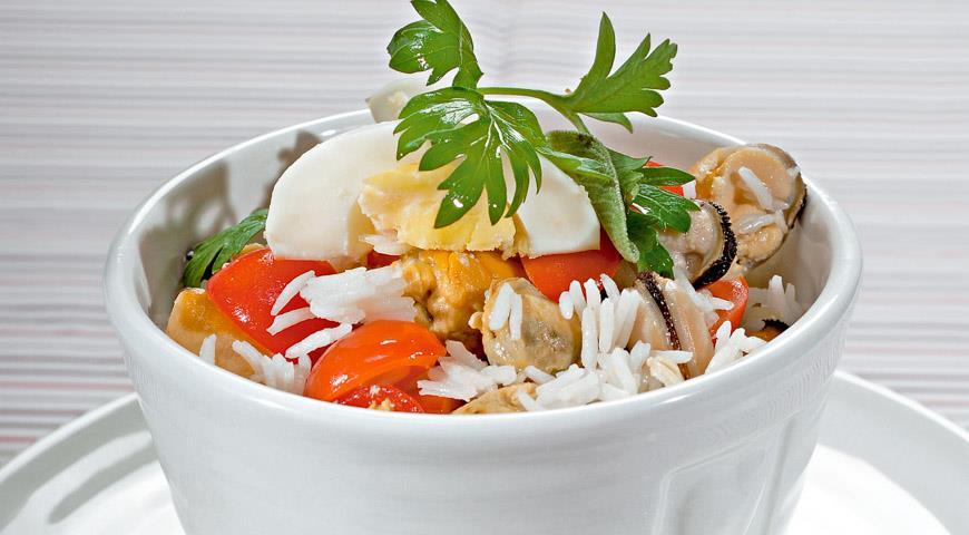 мидии с рисом рецепты приготовления с фото