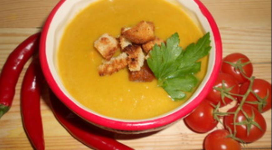 Рецепт Гороховый крем-суп с овощами