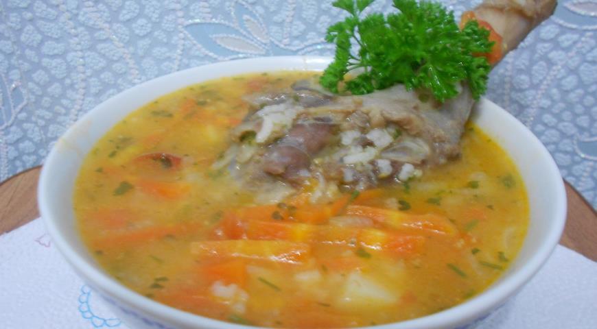 рецепт супа с уткой с лапшой
