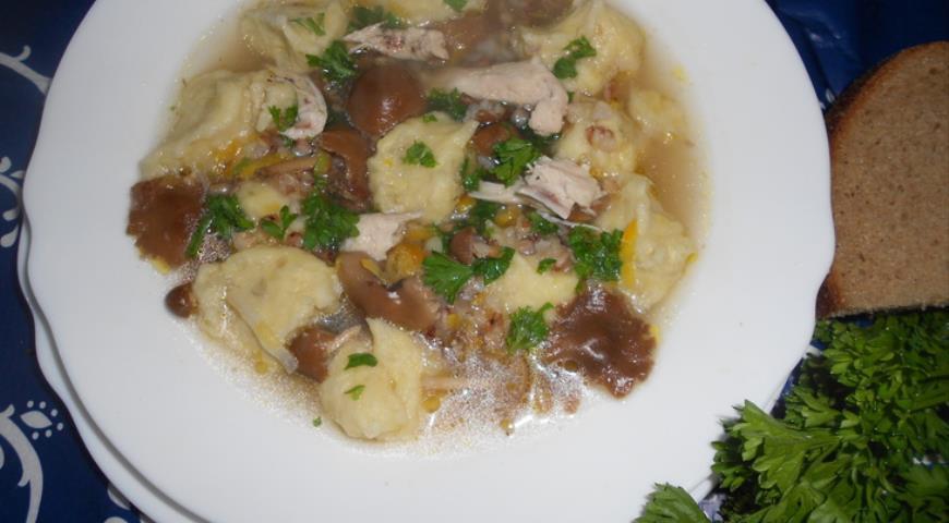 Рецепт Гречневый суп с картофельными клецками