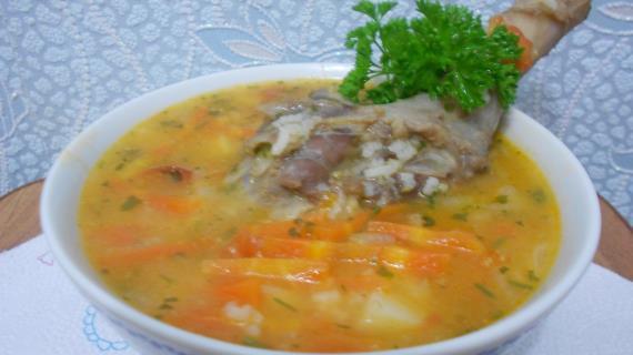 Суп с уткой и рисом рецепт с фото