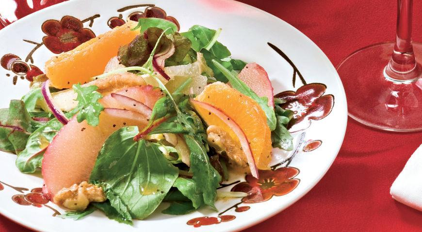 Рецепт Салат с цитрусовыми