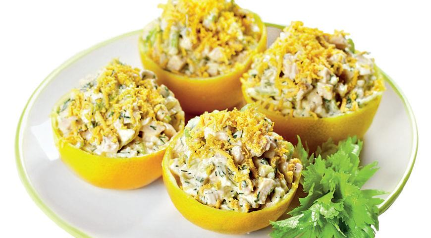 Рецепт Сладкие лимоны с куриным салатом