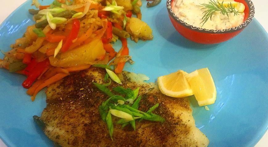 Рецепт Филе тилапии запеченное с овощами