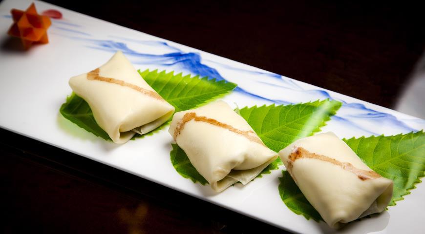 Рецепт Блинчики с манго и с кремом от Ян Вей Вень