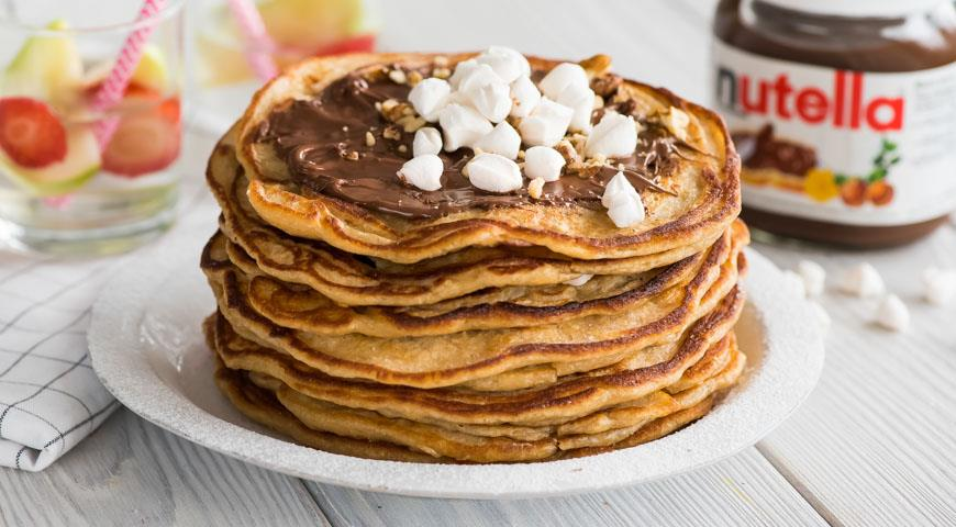 Рецепт Блины красные гречневые с маршмеллоу и пастой Nutella®
