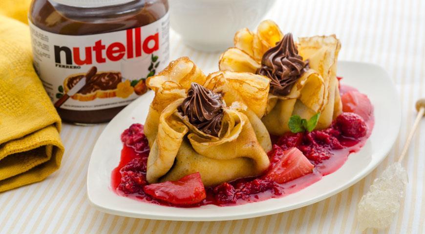 Рецепт Итальянские блинчики с маскарпоне и пастой Nutella®
