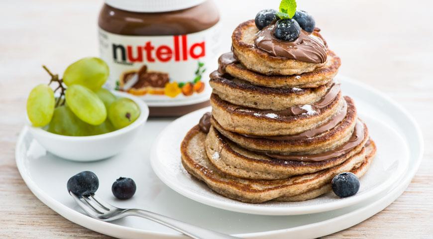 Рецепт Оладушки из льняной муки с пастой Nutella®