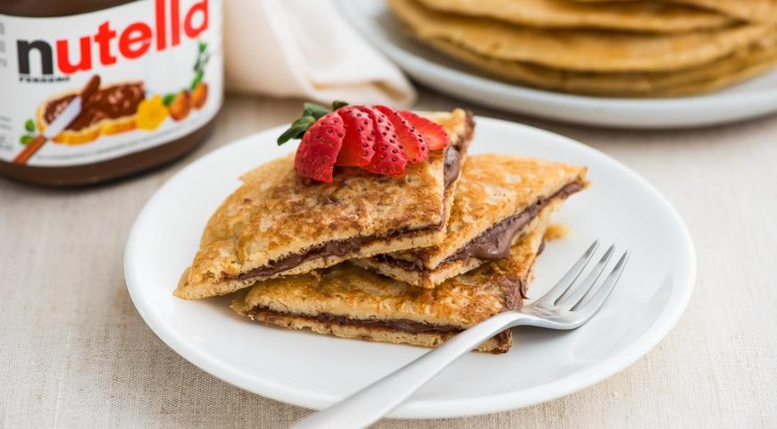 Рецепт Овсяные блины с пастой Nutella®