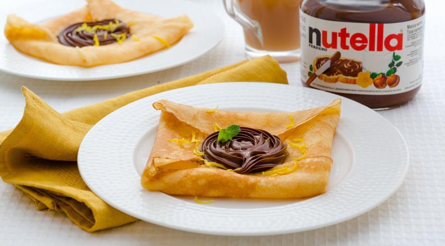 Рецепт Английские блины с пастой Nutella®