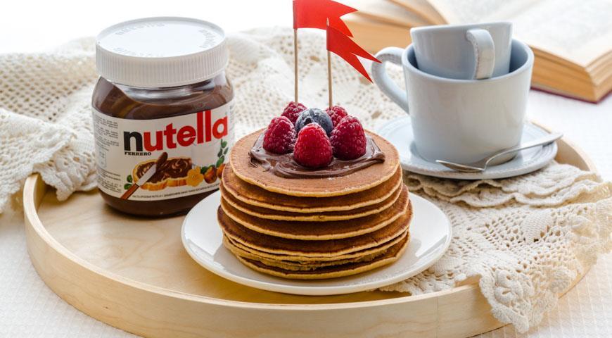 Рецепт Американские блинчики-хоткейки с пастой Nutella®