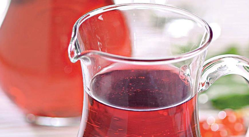 Рецепт Морс из красной смородины с мелиссой