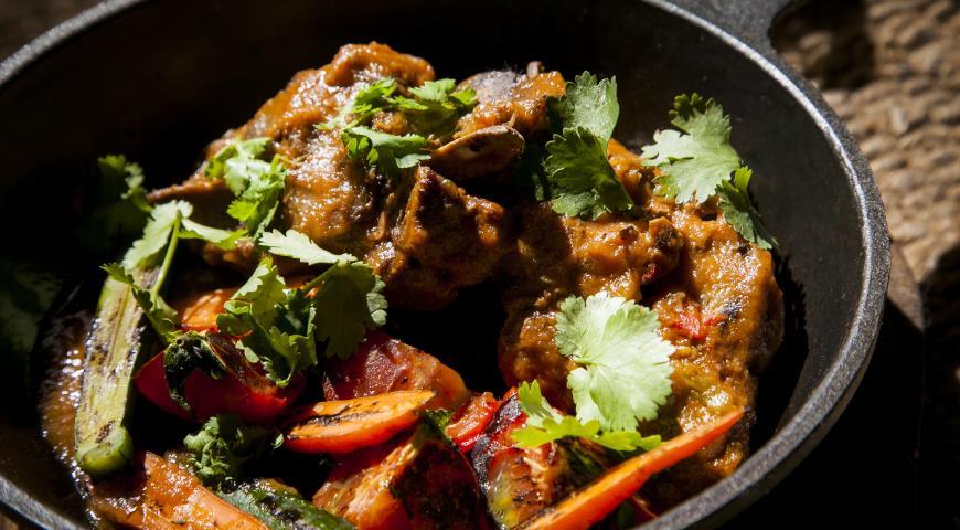 Рецепт Седло барашка с овощами