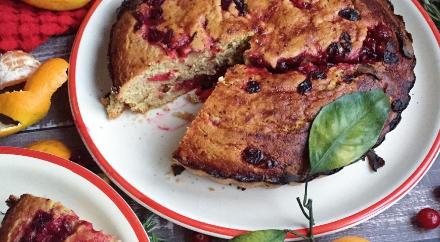 Рецепт Зимний пирог с клюквой и апельсином