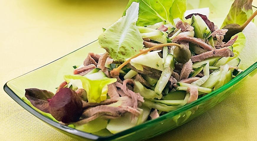 салат из языка рецепт и свеклы