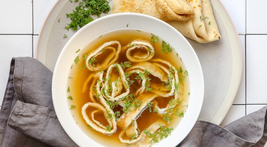 Рецепт Суп с яичными блинчиками