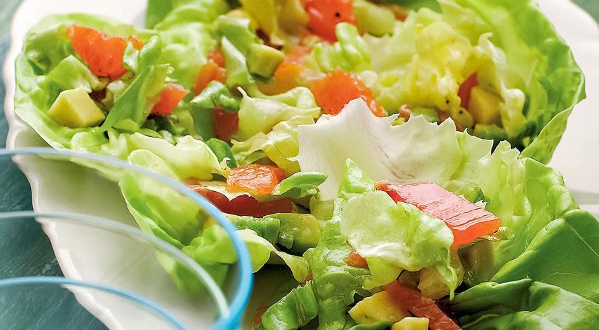салат с авокадо пошаговый фото рецепт пошаговый